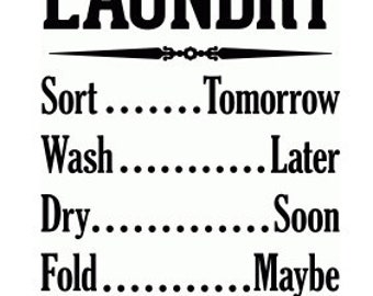 Laundry Room Wall Decor , house , home , print , laminated ,  Wall Art
