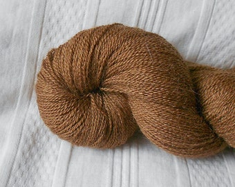 Nutmeg silk/alpaca laceweight yarn