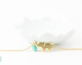 Elephant bracelet, cute elephant bracelet, elephant, gold bracelet, charm bracelet, gold chain bracelet, cute bracelet, friendship bracelet