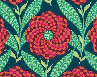 Amy Butler Eternal Sunshine Zebra Bloom in Ink cotton quilt fabric - fat quarter, Amy Butler fabric