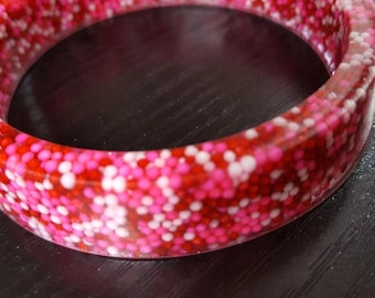 Resin Sprinkle Fairy Kei Pastel Goth Bangle Bracelet