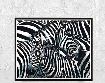 Charmant Zebra, Zebra Print, Black And White, Zebra Art, Animal Print, Zebra