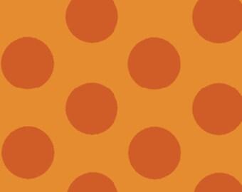 One Yard Mischief  - Cookie Dots in Orange - Little Boy Fabric Line Designed by Nancy Halvorsen for Benartex (W878)