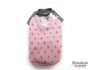 Brushed fleece pink star for dogs Tg XS-S-M-L Pets clothes. Chihuahua, poodle, yorkie, maltese