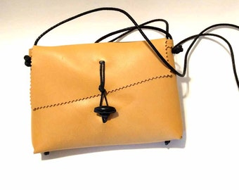 Caramel Italian Leather Cross Body Mama Hippo