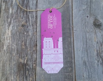 Gift Tag, Notre-Dame de Paris Cathedral, With Love From France, Best Wishes, Thinking Of You