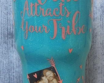 Photo glitter tumbler- Custom personalized Picture Collage stainless steel Glitter tumbler-Mother's Day gift-graduation gift-MVP gift-custom