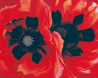 GEORGIA O'KEEFFE - 'Oriental Poppies' - Original hand printed screenprint - c1998 - large (Artizan Editions, London. Serigraph) x