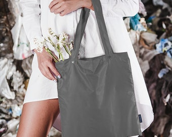 GENECIE Built-In Reusable Shopping Bag - DARK GRAY