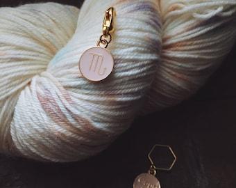 Zodiac Sign Knitting Stitch Marker / Progress Keeper - Choose your Astrological Sign
