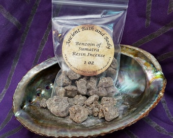 Benzoin of Sumatra Resin Incense 1 oz, Incense, Spiritual, Cleansing