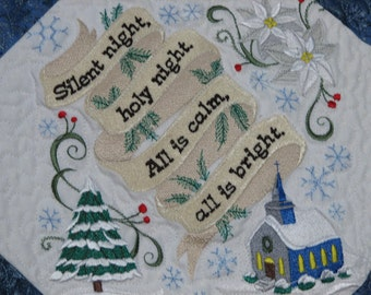 Silent Night Quilted Christmas Tablerunner