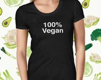 Vegan Shirt for Women - Plant-based T-shirt - Animal Rights Tee - 100% Vegan T Shirt for Women - Love Animals Tee Shirt - Plant Based Shirt