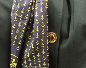 """Royal Silk """"Chanel Style"""" Anchor silk scarf"""