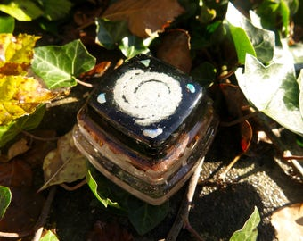 Australian Opal Cosmic Glow in the Dark Orgone® Pyramid