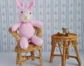 Knit Bunny Toy, Newborn Photo Prop. Baby Shower Gift, Baby Girl Gift, Baby Boy Girl, Rabbit Toy, Bunny Toy, Easter Bunny, Photo Prop Toy
