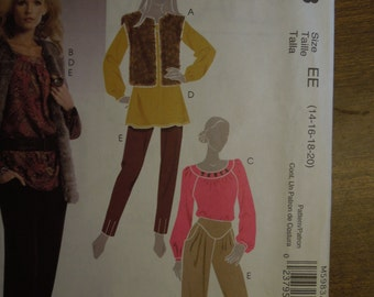 McCalls M5983, sizes 14-20, lined vest, tops, tunics and pants, UNCUT sewing pattern, craft supplies