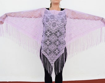 purple poncho summer