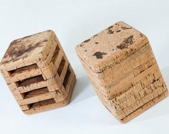 Natural cork stool