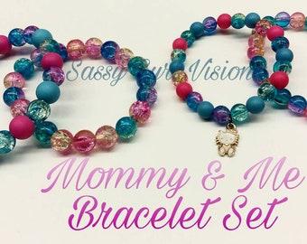 Mommy and me bracelet set
