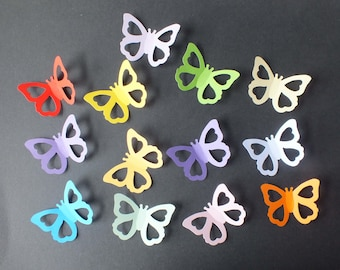 15 Sizzix Butterfly die cut shapes assorted colours