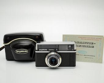 vintage Voigtlander Bessy K camera with Case + Paper Mid Century Retro