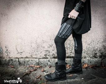 BARCODE - Print Leggings Dystopia Cyberpunk Alternative Clothing Grunge Punk Dark Fashion