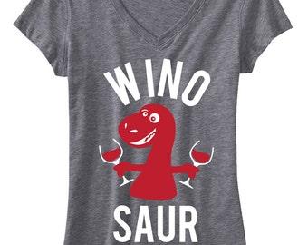 WINO SAUR Shirt, Wine Shirts, Funny, Yoga Clothes, Mimosas, Winosaur