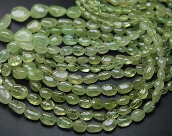 14 Inches Strand,Finest Quality Natural Grossular Garnet Smooth Oval Shape Nuggets 7-10mm Large