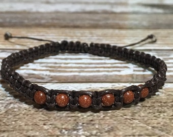 Sandstone Crystal Bracelet, Healing Bracelet, Healing crystal Bracelet, Crystal Bracelet, Healing Crystal Jewelry