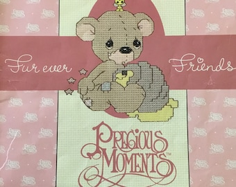 Precious moments furever friends cross stitch pattern book