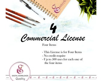 COMMERCIAL LICENSE  : FOUR items