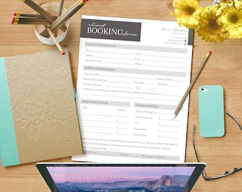 Client Booking Form - Photoshop Template for Photographers - INSTANT DOWNLOAD - CBF001