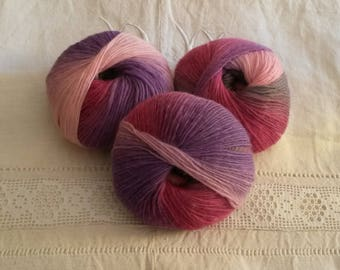 Dyed pure wool skein / washable at 30 degrees