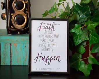 Faith 5x7 Hand Lettering Art