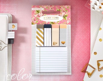 Sale Sticky Notes Webster's Pages Planner Accents  - 5 Note Pads with Different Designs - Planner Sticky Notes/Note Pads/Page Markers