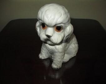 Nice Big Eyed Poodle Figurine ~ Great Vintage 50s Art Deco Look!