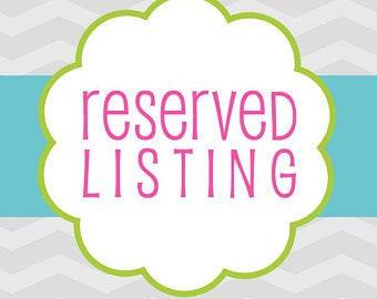 Reserved Listing: Ndaa