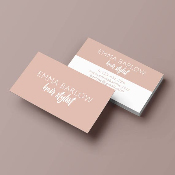 Minimalist business card business card template pink simple minimalist business card business card template pink simple business cards classic business card blush business card design colourmoves Image collections