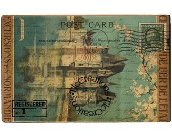 Vintage Postcard Series 1, Printable Journal Cards, Post Cards