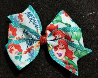 The Little Mermaid boutique bow