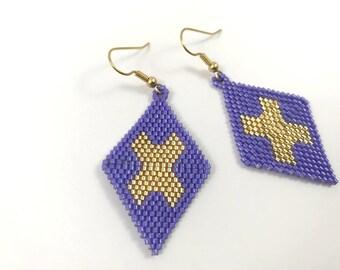 X Diamond Dangle Earrings