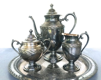 Silver coffee set | Etsy