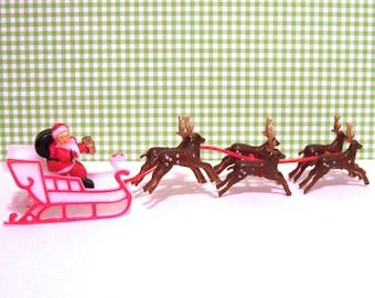 Santa on Sleigh Cake Topper