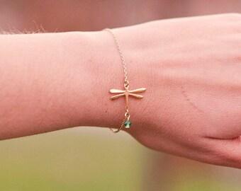 Dragonfly Bracelet - Dragonfly Jewelry - Dainty Bracelet - Delicate Dragonfly Bracelet - Dragonfly Charm - Dragon fly jewelry - Dragonflies