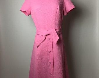 VINTAGE 1960s Bubble Gum Pink Mod Dress