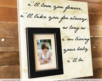 I'll Love You Forever, Mother Of The Bride, Mother of the Bride Gift, Mother of the Bride Picture Frame, Thank You Gift for Mom, 16x16