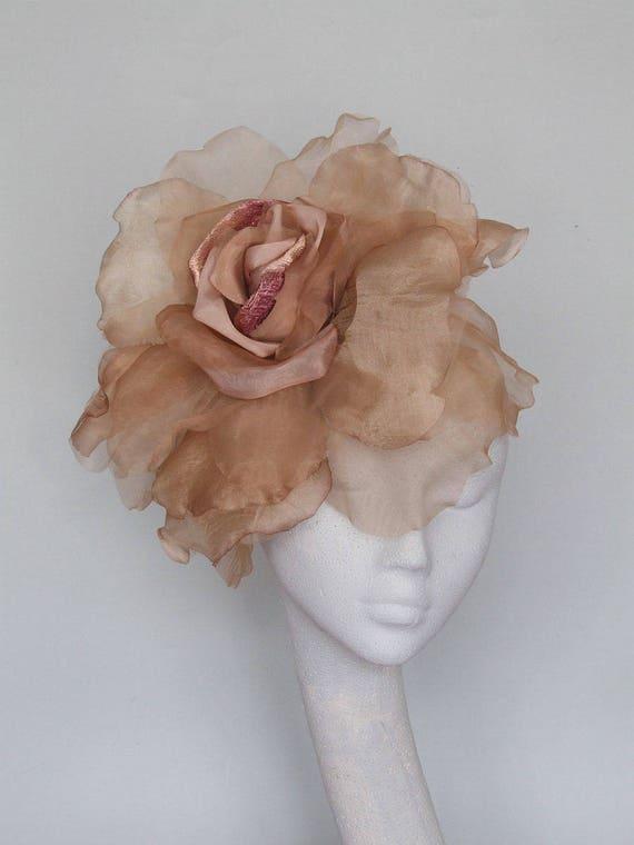 Rose Gold Fascinator   Lauren by Etsy