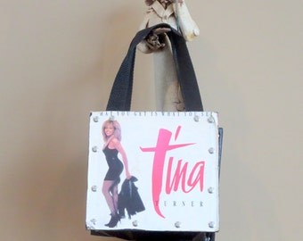 Etsy BDay Sale Classic Vintage 1987 Tina Turner 45 RPM Bag Promo Of Single 'What You Get Is What You See'- No I'm Not Kidding
