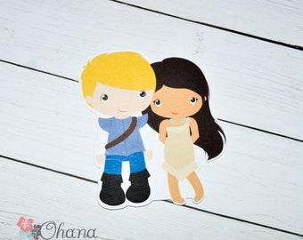 Pocahontas Princess Die Cut | Planner TN Travelers Notebook Disney Inspired Couple Love Erin Condren Deco Ring B6 A6 Personal